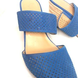 Franco Sarto Shoes - Franco Sarto Mint2 Espadrille Wedges Blue Heel 9